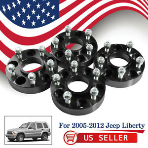 4pcs 5 Lug 1 25 Thickness Wheel Spacers Adapters For 2005 2012 Jeep Liberty