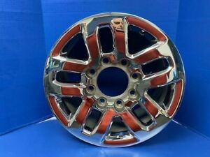 Wheel Rim 18 X 8 Alloy 10 Spoke Chrome Fits 15 16 17 18 Chevy Silverado 2500