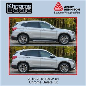 20162020 Bmw X1 Chrome Delete Vinyl