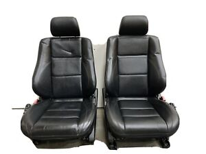 Mercedes W202 C43 Amg Black Leather Sport Front Seats Pair Used