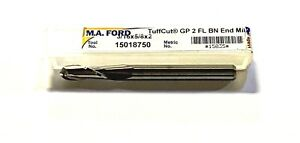 M a Ford 3 16 Carbide Ball Nosed End Mill 2 Flute Usa Made