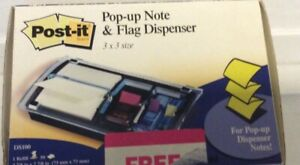 Post it Pop up Selfstick Note Pad Holders Note And Flag Dispenser