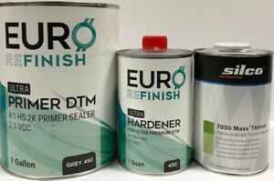 2k Dtm Hs Primer Sealer Gallon Kit Gray 2 1 Voc 4 1 Mix 1 Liter Reducer Grey