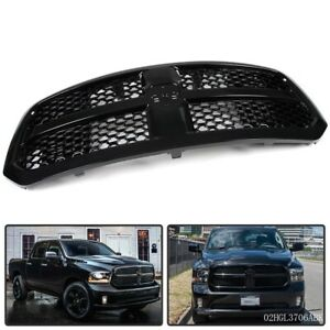For 13 17 Dodge Ram 1500 Front Bumper Grill Guard Glossy Black Honeycomb Mesh
