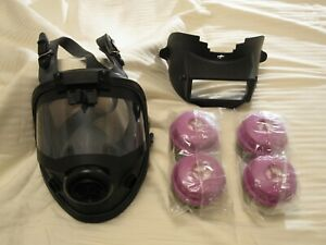 Honeywell North 5400 Full Face Respirator Welding Cover 4 75scp100l Filters