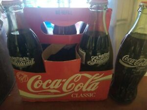 COCA COLA 6 PACK FULL FROM GRACELAND MEMPHIS TENNESSEE 1995 MARKED ON BOTTLE