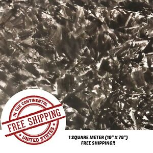 Hydrographic Film Water Transfer Hydro Dipping Dip Film 19 X 78 Forged Carbon