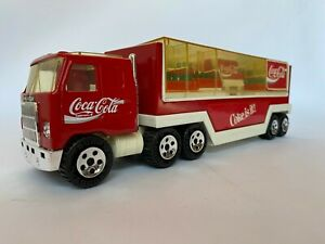 Vintage BUDDY L COCA COLA Semi Trailer Delivery Truck  with Bottle Cases