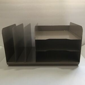 Vintage Steelmaster 20hv Steel Desk Horizontal Vertical Document Paper Organizer