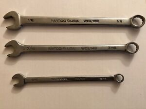 Matco Wrenches Lot Of 3 1 2 Wcl 162 7 16 Wcl 142 5 16 Wcl 102 Usa Made