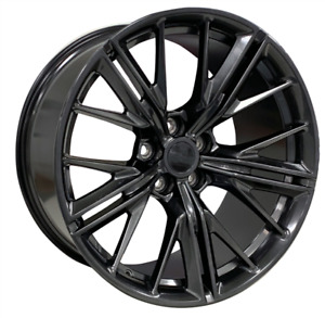 20 New Zl1 Style Wheels Chrome Black Stagger Rims Fit Chevy Camaro Rs Ss Ls Lt