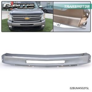 Chrome Steel Front Bumper Impact Face Bar For 2007 2013 Chevy Silverado 1500