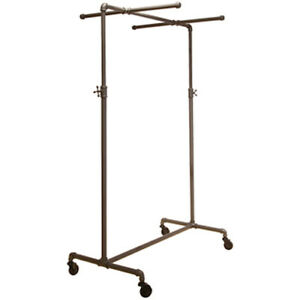 Display Clothing Rack 41 W X 22 D X 44 72 H Inches With Two Cross Bars