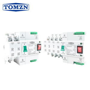 Din Rail 2p 4p Ats Dual Power Automatic Transfer Switch 63a 100a Tomzn Mini