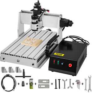 3 Axis Cnc 3040 Router Kit 500w 3d Milling Drilling Cutter Wood pvc 8000rpm Us