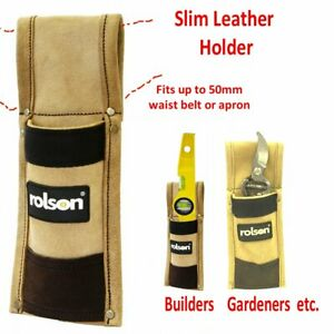 Heavy Duty Leather Scaffold Spirit Level Single Tool Pouch Holster