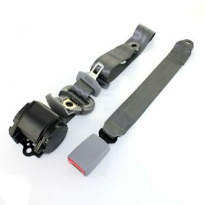 For Chevrolet Car Truck 3 Point Safety Adjustable Seat Belt Universal Clip Gray