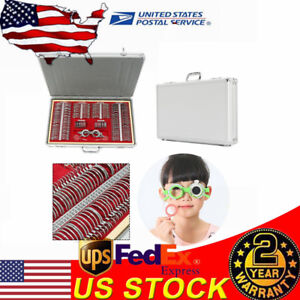 266pcs Metal Optometry Optical Trial Lens Set Rim Trial Frame Aluminum Case