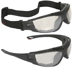 Radians Cuatro 4 in 1 Indoor outdoor Anti Fog Safety Glasses Goggles Foam Padded