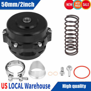 Universal 50mm 2inch Car Turbo Blow Off Valve Bov Kit W Adapter Spring Us