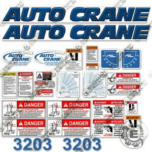 Auto Crane 3203 Decal Kit Crane Truck Replacement Stickers 3m 7 year Vinyl