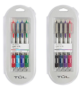 Tul Gel Ink Pens Assorted 0 7 Medium Point Retractable 8 Pens Total