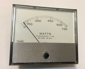 Triplett 750w Analog Panel Watt Meter 120v 5a New In Box