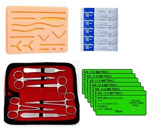 Suture Practice Kit Complete Suture Training Kit With Silicone Pad Suture 19 Pcs