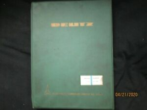 Deutz Air cooled Diesel Engine Fl 812 Workshop Repair Service Manual Original