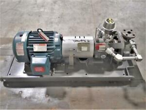 Flowserve Durco Mk3 Std Centrifugal Pump 1k1 5x1 82rv 6 25 Dci Body 10 Hp Motor