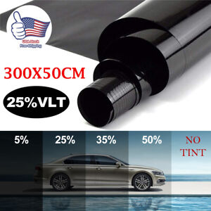 Window Tint Film 25 Vlt 20 X 120 10ft Feet Uncut Roll Car Home Office Glass Us