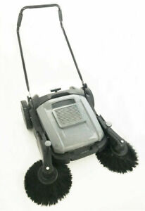 Floor Sweeper Manual Push Cleaner Machine 41 3 w With Roller Brush Newest Tool