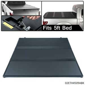 Lock Tri Fold Hard Tonneau Cover For 15 20 Chevy Colorado Gmc Canyon 5ft Bed