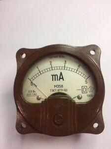 Vintage Russian Panel Meter Dc 0 5ma M358 Nos Lot Of 1