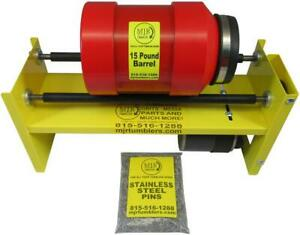 1Gal Brass Shell Case Rotary Tumbler Cleaning Reloading 5lb Stainless Steel Pins $510.00