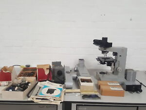 Leitz Ortholux Microscope Accessories Eyepieces Objectives Dual Viewing Head