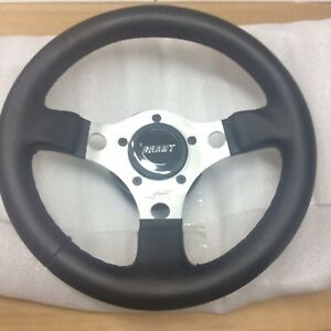 Empi 79 4039 Formula Steering Wheel Silver 3 spoke 11 3 4 Diameter 3 Dish