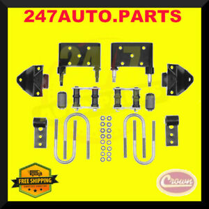 Leaf Spring Mounting Kit Front Crown 5359011k For Jeep Cj5 Cj7 Cj8