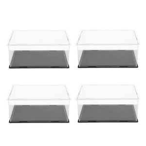 4x Acrylic Organizer Display Stand Protectors Showcase For Gundam Figurines