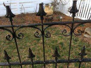 Antique Wrought Iron Fence Panel