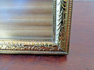 Vintage Gold Metal Picture Frame 5 X 7 Photo Etched Embossed Victorian Style