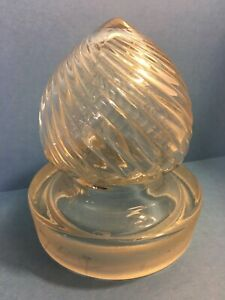 Antique Apothecary Drug Store Candy Jar Glass Display Bottle Columbia Swirl Lid