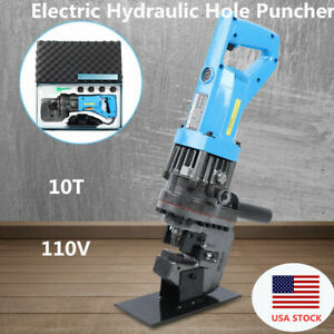 Electric Hydraulic Hole Puncher Steel Plate Hole Punching Machine W 5 Dies 900w
