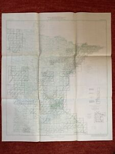 Index To Maps Of Minnesota State Map 1963 30 X26 Vtg Mid Century Us Geological