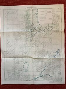 Index To Maps Of Utah State Map 1963 25x20 Vtg Mid Century Us Geological Steam