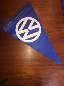 Vintage Vw Volkswagen Cloth Flag Pennant Fender Beetle Bug Original