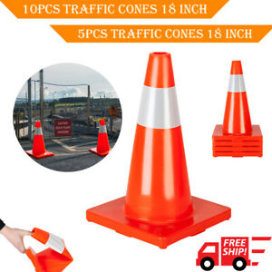 5 10pcs 18 Orange Traffic Cones Parking Construction Emergency Road Safety Cone