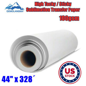 Us Stock 100g 44 High Tacky Sticky Sublimation Transfer Paper For Heat Press