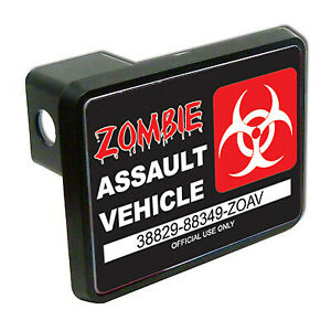Zombie Assault Vehicle Funny 2 Tow Trailer Hitch Cover Plug Car Truck Receiver