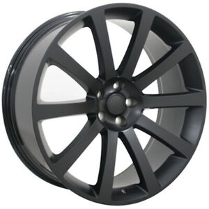 Matte Black Wheel 22x9 For 2006 2015 Dodge Charger Owh1440